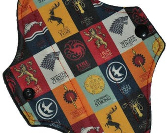 Liner Core- House Sigils Performance Pique Reusable Cloth Petite Pad- WindPro Fleece- 6.5 Inches