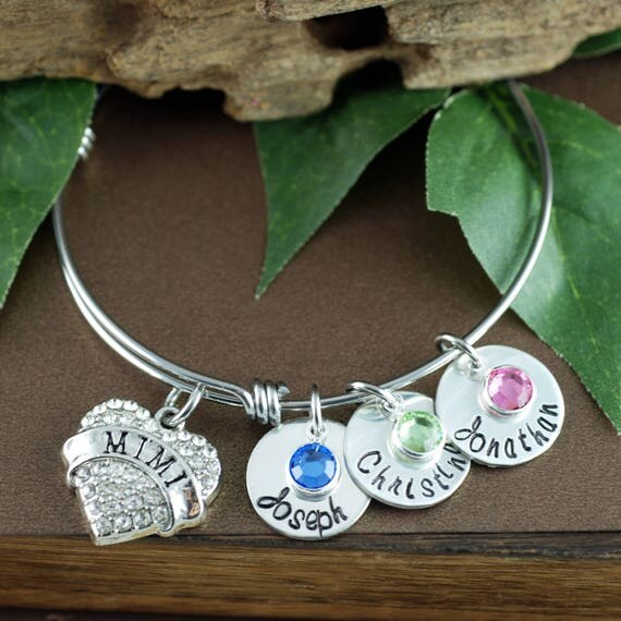 Personalized Mimi Bracelet | Hand Stamped Mom Bracelet | Personalized Jewelry | Grandmother Bracelet | Gift for Her | Gift for Grandma