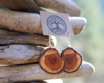 Diamond Willow Wood Earrings- - Natural Wood Jewelry- Eco Earrings
