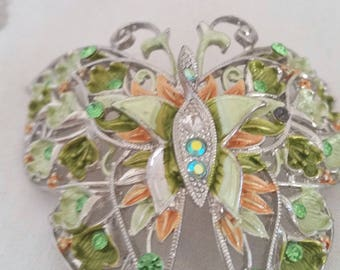 destash jewellery, all TLC, jewellery making supplies, large rhinestone butterfly, bird earrings, bird piece