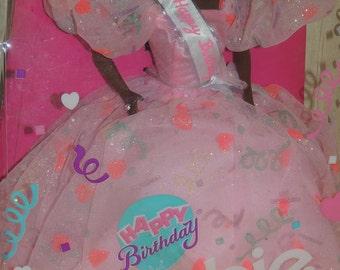 1990 Black HAPPY BIRTHDAY Barbie