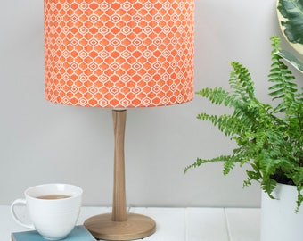 Orange lampshade etsy orange lampshade striking geometric orange design moorish tiling pattern made in uk mozeypictures Images
