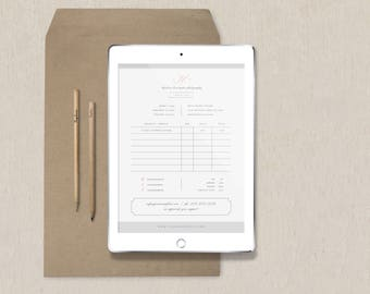 Invoice Template - Photography Forms - Printable Invoice Template - Invoice Design for Photographers - Photoshop Templates - Receipt Design