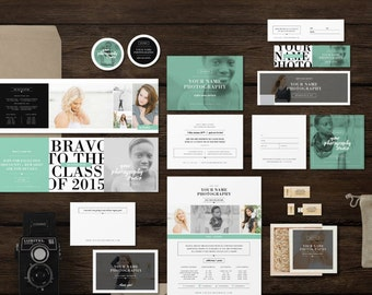 Senior Photographer Marketing Set Templates - Studio Welcome Packet for Senior Portrait Photographers - Branding Suite
