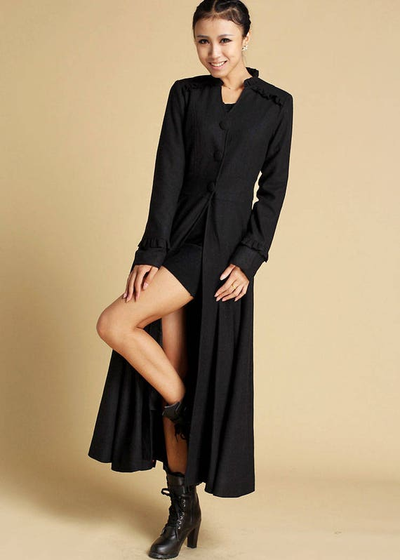 Like this item? - Maxi Coat Winter Coat Wool Coat Womens Coats Black Coat