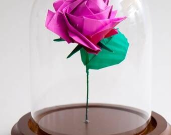 Eternal rose pink origami small decorative globe