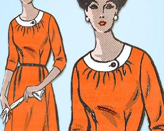 1960s Vintage Anne Adams Sewing Pattern 4568 Uncut Plus Size Dress Size 50 Bust