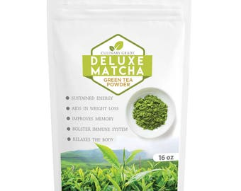 Organic Matcha Green Tea Deluxe Powder - FREE Shipping (USA)