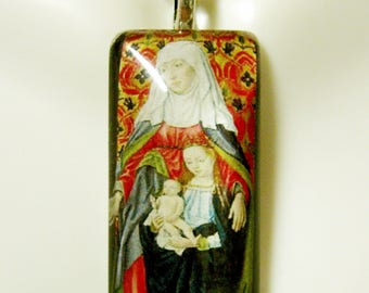 Saint Anne pendant with chain - GP12-377