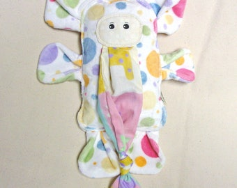 Plush Elephant - Stuffed Elephant - Polka Dot Minky Elephant Toy - Handmade Elephant Toy - Stuffed Elephant Friend - Durable Elephant Toy
