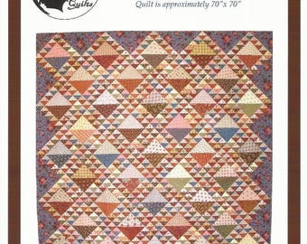 """Civil War Inspired Scrappy Quilt Pattern BELLE MEADE from Bonnie Blue Quilts - 70"""" x 70"""" - Reproduction Inspired Quilt Design"""