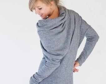 SALE - Gray dress | Sweater dress | Wool dress | LeMuse gray dress