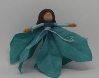 Christmas Fairy - Flower fairy - Christmas elf - Waldorf doll