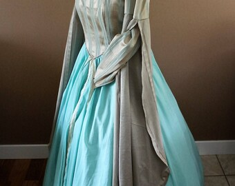 """Bust 40"""" Tudor Dress Ever After Renaissance Medieval Gown Game of Thrones Theme Wedding"""