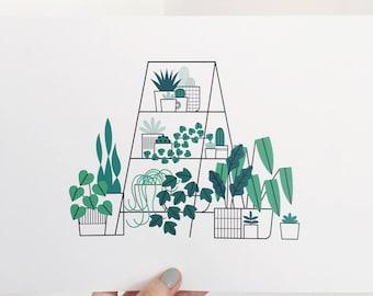 A4 Plant Ladder Print