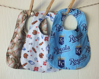 Royals Baseball Bib Set FREE SHIPPING