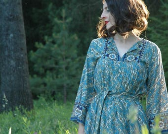Boho Dress with Sleeves / Long Sleeve Bohemian Dress / Gypsy Dress / Gypsy Dress Plus Size / Gypsy Dresses Plus Size / Bohemian Dress /