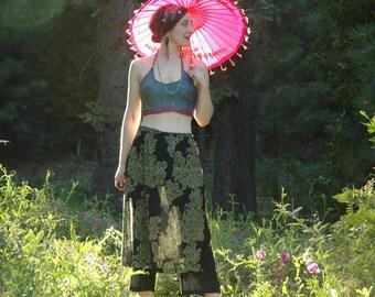 Festival Pants / Skirt Pants Combo / Beach Pants / Summer Pants / Gypsy Chic / Boho / Hippie / Yoga Pants