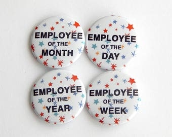 """Employee Appreciation Gifts 1.5"""" Fridge Magnets, Backpack Buttons, Funny Office Gag Gifts, Work Recognition, Thank You, Cheap Gift Idea"""