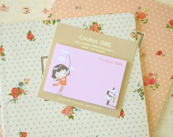 06 Cookys Girl cartoon Sticky Notes