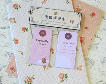 Especially for You vintage style message gift tags