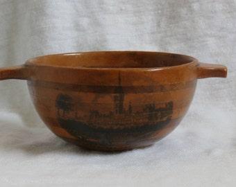 Mauchline Ware Quaich Antique Souvenir New Glasgow University