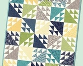 Tail Feathers Quilt Pattern - Multiple Sizes Quilt Pattern - Modern Quilt Pattern - It's Sew Emma ISE 173
