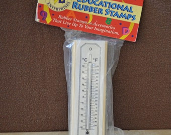Temperature Rubber Stamp/Educational Rubber Stamps/Instructional Materials/Teaching Tools/Center Enterprises Rubber Stamp/1995