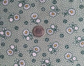 Feedsack Style Reproduction Calico Daisies
