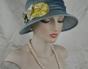 1920s Cloche, Ladies Straw Hat, Special Occasion Hat