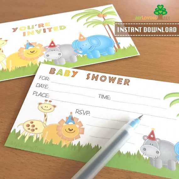 Jungle safari baby shower invitation safari baby shower diy il570xn filmwisefo