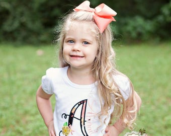 Personalized Baby Shirt - Custom Baby Bodysuit - Bella Flower Initial Shirt - Toddler Summer Outfit - Baby Girl Shirt