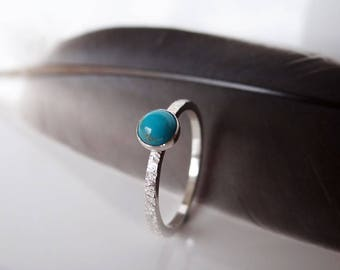 Turquoise Stacking Ring - December Birthstone Ring - Birthstone Ring