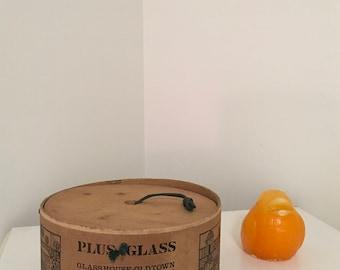 "NORWAY DESIGNS WOOD Box, Fredrickstad Norway, 8.5"" X 4.5"", Plus Glass, Photo Prop, Vintage Container, Danish Modern at Modern Logic"