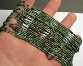 Turquoise - African - 2 mm round - 1 full strand 205 beads - A quality - PG6