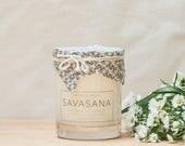 SAVASANA Yoga Candle - Lavender Eucalyptus - all natural, eco-friendly 100% soy wax candle
