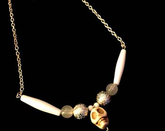 Wicked White Skull Necklace