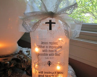 wine bottle lights,lighted bottles,christian gift ideas,Scriptures,Bible verses,wine bottle lamps,wine bottle light,decorated wine bottles
