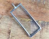 Verkauf - 1 x 2 Zoll rechteckigen Glas Andenken Foto Bilderrahmen Collageanhänger