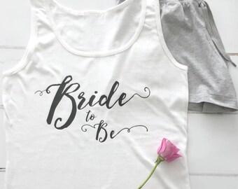 Bride To Be | Pyjamas | Bride PJs | Wedding Pyjamas | Fiancee Pyjamas
