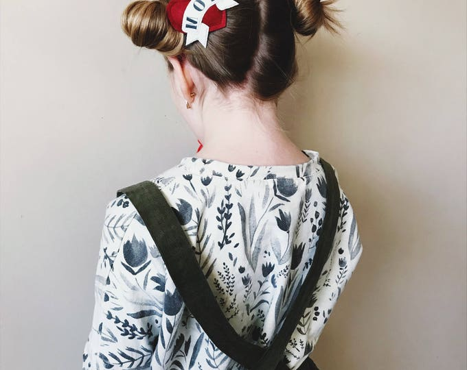 Featured listing image: Heart Headband or Alligator Clip // Mom Tattoo, Valentines Day
