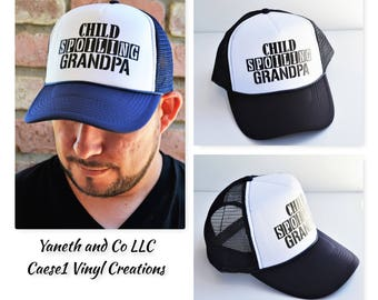 Child Spoiling Grandpa Trucker Hat,Grandpa Trucker Hat,Fun Grandpa Hat,Cool Grandpa Trucker hat,Child Spoiling Trucker Hat,Fathers Day hat