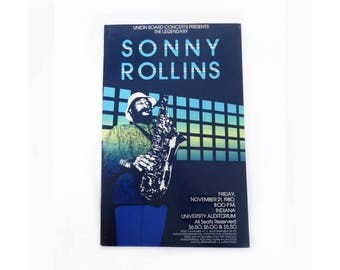 Sonny Rollins Poster, 1980, Indiana University Concert
