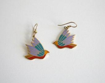 Laurel Burch Celeste Bird Earrings