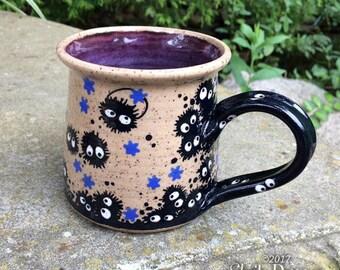 Soot Monster Mug - stoneware ceramic handmade coffee cup