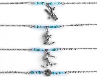Winter Olympics Beaded Necklace