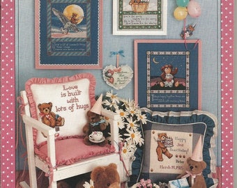 "Vintage Craftways ""Bearly Yours"" Cross Stitch leaflet"