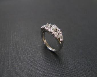 0.30ct Marquise Diamond Ring, Diamond Engagement Ring, Engagement Ring, Marquise Engagement Ring, Marquise Cut Wedding Ring 14K White Gold
