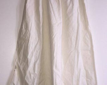 Vintage Women's Slip Made By Vanity Fair Size Large White 100% Cotton USA