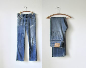 vintage 1970s Levis blue jeans